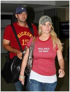 Jessica Simpson e Tony Romo: em cima do muro