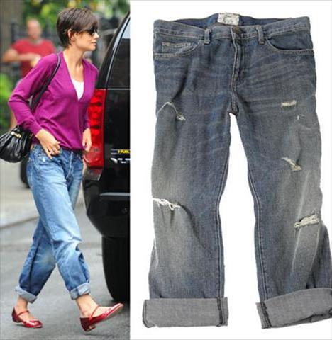 """Katie Holmes, a precursora do jeans """"boyfriend"""""""
