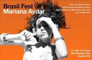 Mariana Aydar invade Nova York