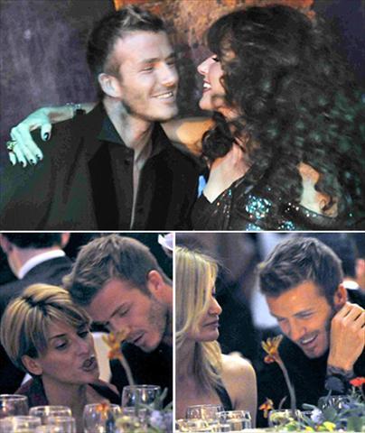 David Beckham e suas fãs: abre o olho Victoria