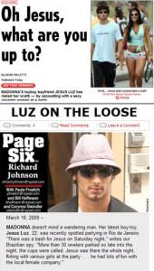 Jesus Luz é destaque na imprensa internacional por causa de festa no Rio