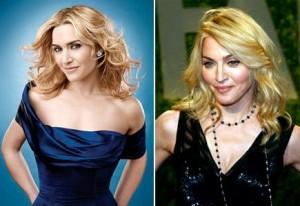Madonna e Kate Winslet estão ficando parecidas?