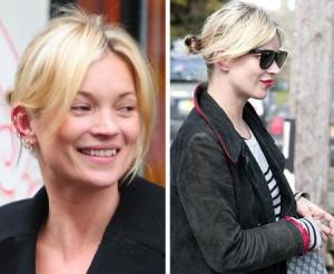 Kate Moss aparece em Londres com seis piercings na orelha