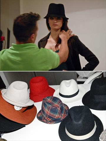 Isabeli Fontana e os muitos chapéus que ela vai usar na nova campanha do Iguatemi: inverno chique