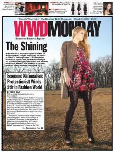 Vestido de Alexandre Herchcovitch é capa da WWD
