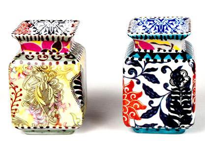 Vasos da artista plástica Calu Fontes trazem inspiração baiana