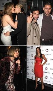 Kate Moss recebe turma de famosos norte-americanos em festa de inauguração da Topshop em Nova York