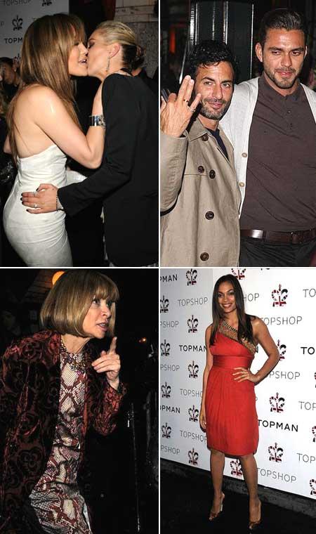 Jennifer Lopez e Kate Moss, Marc Jacobs e Lorenzo Martone, Anna Wintour e Rosario Dawson: inauguração da Topshop em Nova York