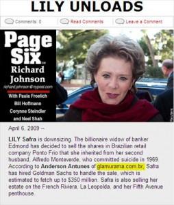 """Glamurama vai parar na coluna """"Page Six"""" do """"New York Post"""" mais uma vez"""