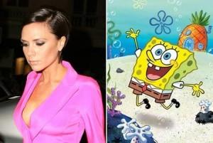 Victoria Beckham é a nova estrela do desenho Bob Esponja