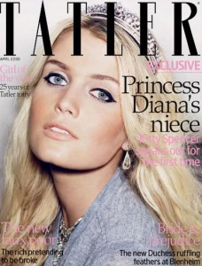 """Revista """"Tatler"""" coloca sobrinha de lady Di em sua capa"""