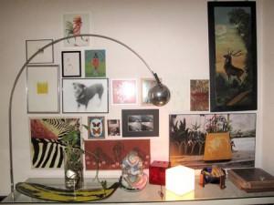 Cantinho da vez mostra parede da casa do galerista Renato De Cara