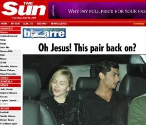 Jesus Luz e Madonna são flagrados em NY