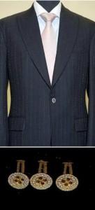 Designer Alexander Amosu confecciona o terno mais caro do mundo