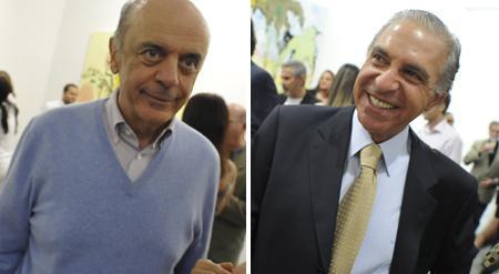 José Serra e Toninho Abdalla: destaques da PODER na festa da revista