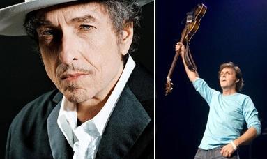Bob Dylan e Paul McCartney: interesse