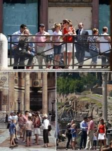 Bill Gates passeia com a família na Itália