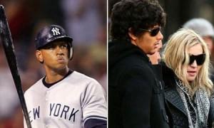 Madonna leva filhos e Jesus Luz para ver jogo do Mets, em Nova York