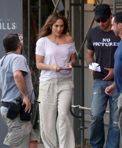 Jeniffer Lopez durante as gravações do novo filme: força total