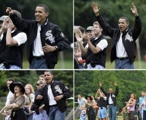 Barack Obama assiste a jogo das filhas