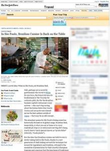 """""""The New York Times"""" publica reportagem sobre gastronomia brasileira"""