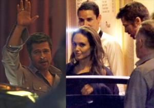 Brad Pitt e Angelina Jolie se encontram em Cannes