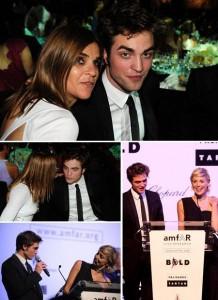 Carine Roitfeld e Sharon Stone ficam encantadas com Robert Pattinson