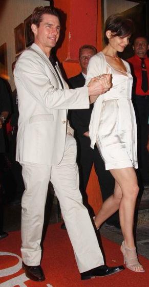 Tom Cruise e Katie Holmes quando passaram pelo Brasil: distância