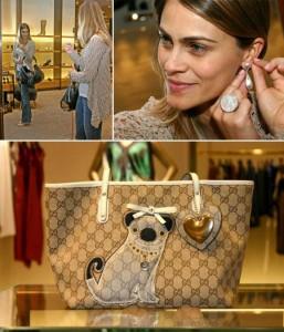 Ana Garcia, namorada de João Paulo Diniz, faz visitinh à Gucci
