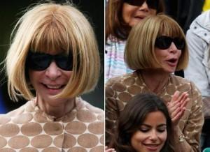 Anna Wintour é flagrada sorrindo em Roland Garros