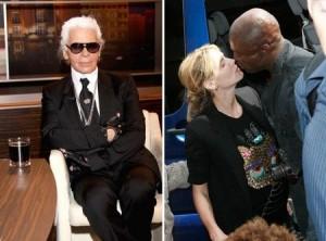 Karl Lagerfeld alfineta Heidi Klum