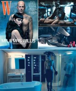 "Bruce Willis e Emma Heming na ""W"""