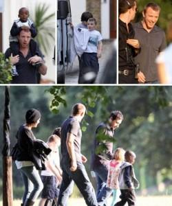Guy Ritchie passeia com os filhos em Londres
