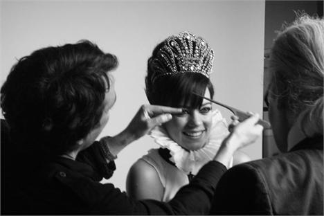 Lily Allen e Karl Lagerfeld: realeza da moda
