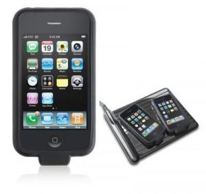 Capinha para o iPhone com carregador.
