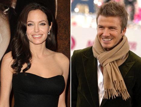 Angelina Jolie e David Beckham: juntos em campanha
