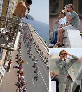 Andrea e Pierre Casiraghi marcaram presença na abertura do Tour de France