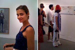 Ana Beatriz Barros e Roberto Marinho Neto passeiam pela Bienal de Veneza.