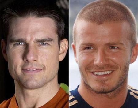 Tom Cruise e David Beckham: melhores amigos