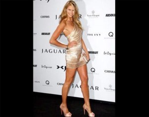 Elle Macpherson rouba as atenções em festa da Jaguar.