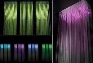 Chuveiro com lâmpadas Led: águaterapia.