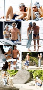 Victoria e David Beckham nas ilhas Seychelles