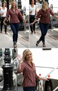 Drew Barrymore é vista dançando pelas ruas do Broolkyn.