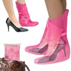 Protetor de sapatos na chuva