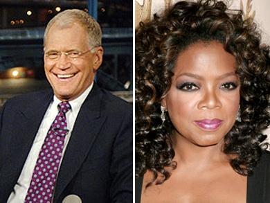 David Letterman e Oprah Winfrey; contrato renovado
