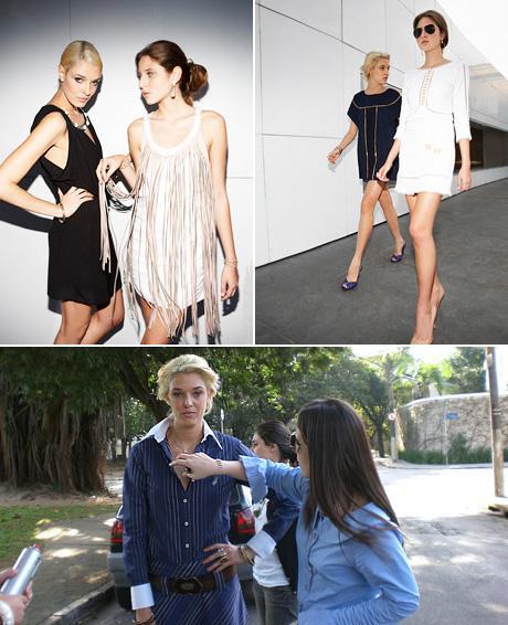 Lara Gerin, Maria della Rosa e Renata e Lilly Sarti nos bastidores: aquecendo o verão