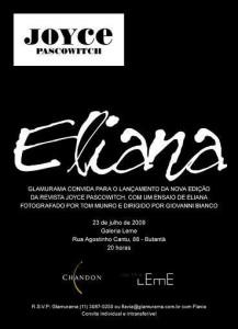 """Será nesta quinta a festa de lançamento da revista """"Joyce Pascowitch"""", com Eliana na capa."""