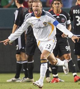 David Beckham diz que não pretende deixar o LA Galaxy tão cedo.