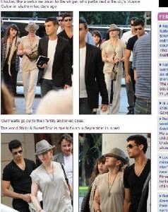 Madonna faz passeio cultural em Madrid com o namorado, Jesus Luz, e a filha mais velha, Lourdes Maria.