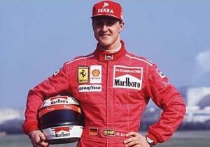 Michael Schumacher volta a defender a camisa da Ferrari.